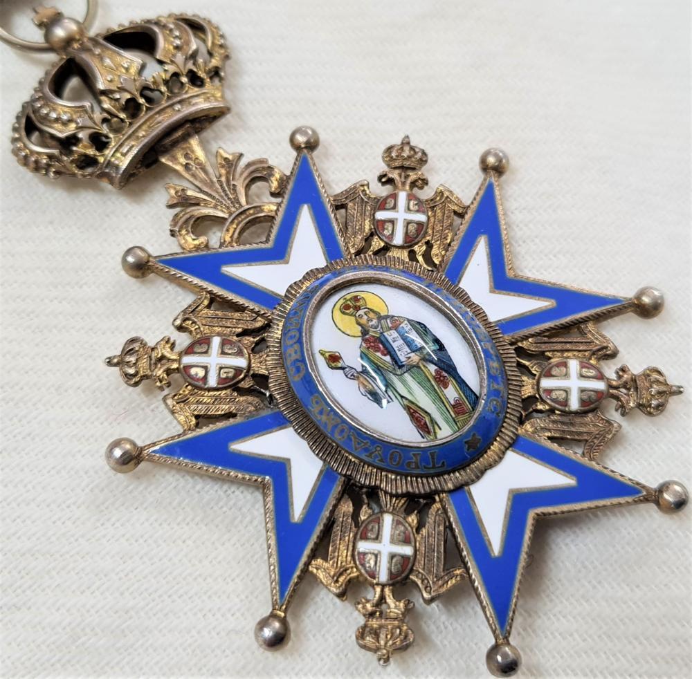 Serbia, Kingdom, Order of St. Sava, type II, Commander's neck Badge medal