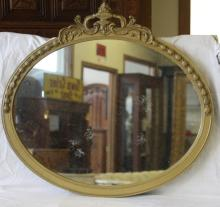 Antique Oval Gilt Mirror
