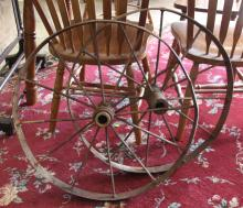 Pair of Antique Iron Wheels - Wagon or Model T