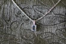 Blue topaz / sterling silver necklace