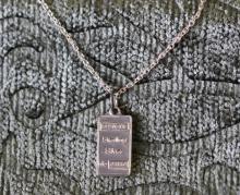 1 gram Sterling silver bar necklace.