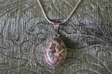 Natural jasper ( agate) necklace