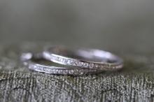 Large CZ / sterling silver hoop earrings