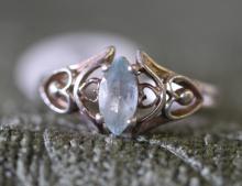Sterling  silver/ blue topaz ring