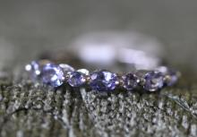 Tanzanite / sterling silver ring