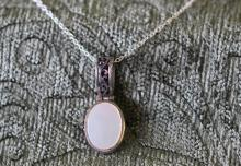 Mother of pearl / sterling silver necklace