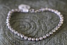 bezel set CZ / sterling silver tennis bracelet
