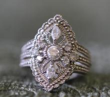 Antique style. Sterling silver ring.