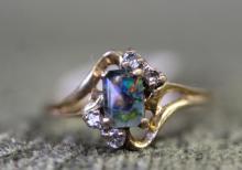 10K mystic stone ring