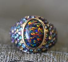 Mystic stone ring