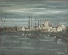 1962 Jean Pierre Capron O/C Landscape
