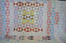 1960's Hand Sewn Bowtie Quilt