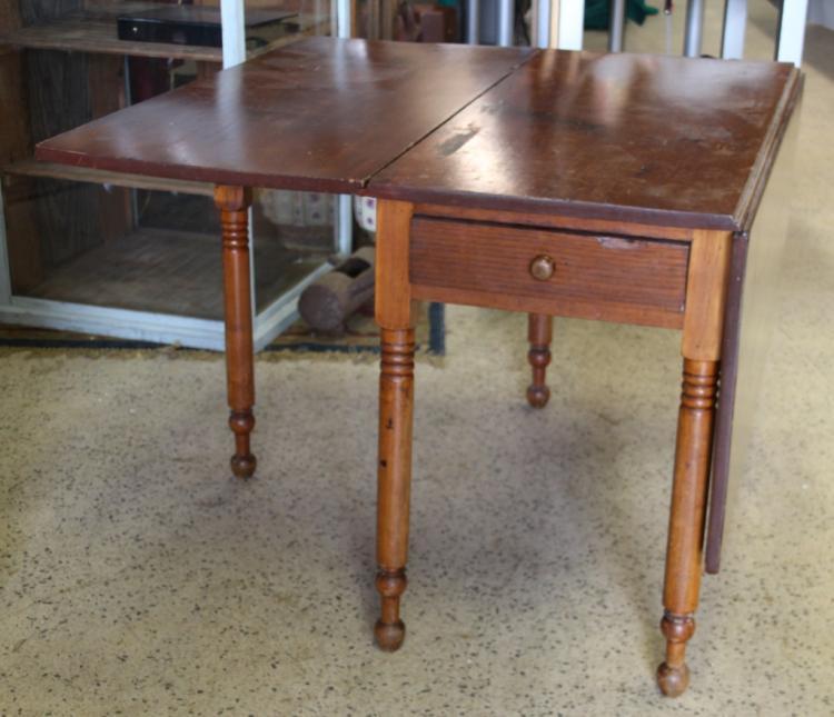 Antique gate leg table w drawer - Gateleg table with drawers ...