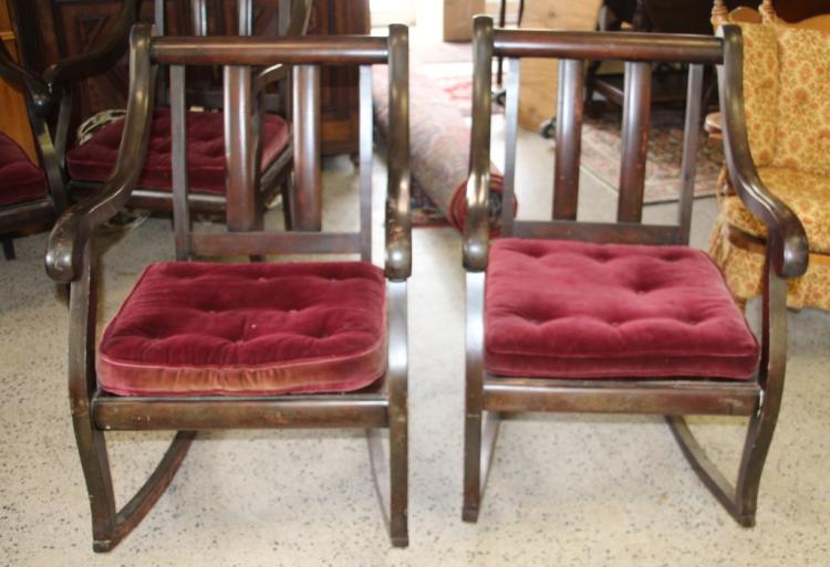 Antique New Orleans Furniture Co Rocking Chairs