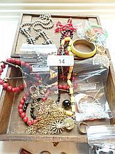 Box full vintage jewelry