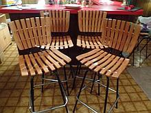 MID CENTURY ALERT - 4 period swivel bar stools