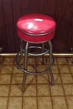 MID CENTURY ALERT  1940's Swivel bar stool