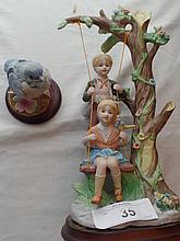 Pair fine porcelain figurines