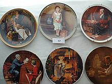 (6) vintage Norman Rockwell plates