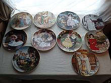 (10) assorted collector plates