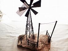 Handmade windmill copper very nice.