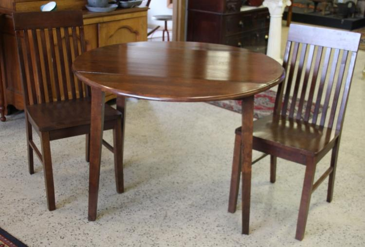 apartment 2 person dining room drop leaf table