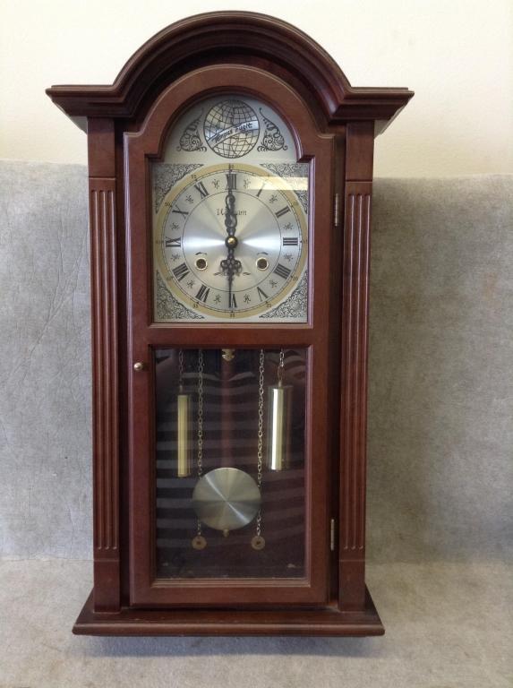 Vintage Waltham Wall Pendulum Clock