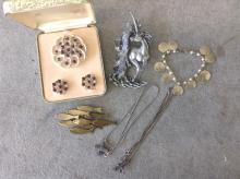 6 pcs. Jewelry - Sterling & Costume