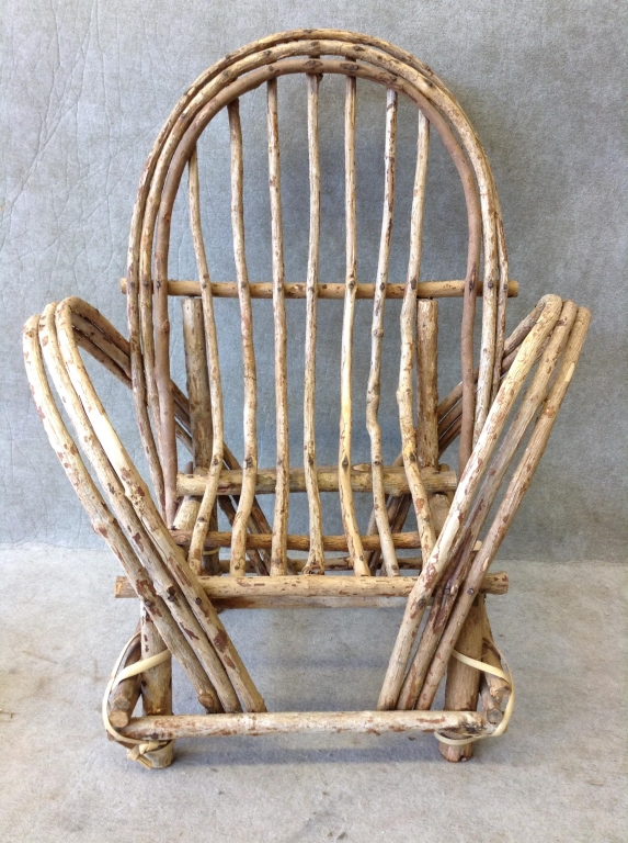 Antique Salesman 39 S Sample Bent Willow Wood Chair