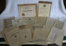 Large Lot of WWII Papers, Certificates & Documents