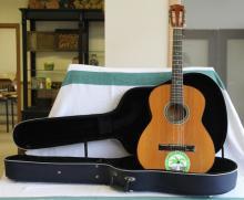 Vintage Acoustic Guitar w/ Soft Hard Case
