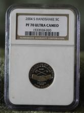 2004 S Handshake Nickel PF 70 Ultra Cameo