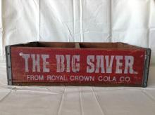Vintage Royal Crown Cola Big Saver Wooden Crate