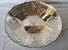Large Vintage Carnival Glass Fruit Bowl