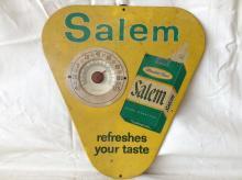 ca. 1960's Salem Cigarettes Metal Ad. Thermometer