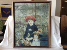 Vintage Renoir Canvas Print Framed