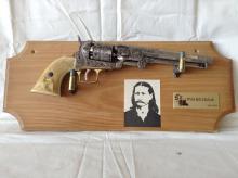 Vintage Wild Bill Hickok Cap Gun & Display Rack