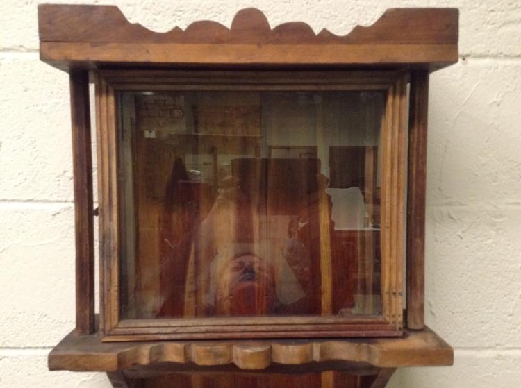 Antique Cedar Wall Clock Case Great Display