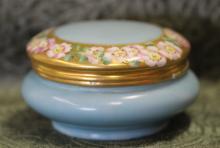 Vintage Limoges France Porcelain Powder Jar