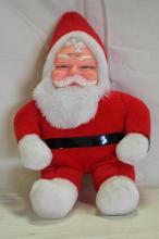 1950's Superior Toy Co. Plush Rubber Face Santa
