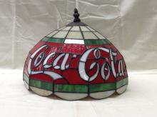 Vintage Coca Cola Coke Stained Glass Lamp Shade