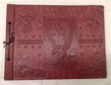 WWII Leather Scrapbook