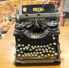 ca. 1920's Royal 10 Typewriter w/ Beveled Glass Side Panels