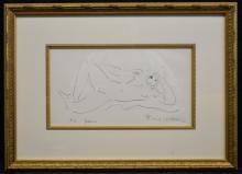 Emil Weddige Artist Proof Stone Litho titled Jean