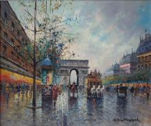Antoine Blanchard Oil on Canvas