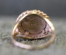 14K Gold Panda Coin Ring w/ Matching Bracelet