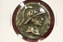 80-65 BC Greek King Baktria Amyntas Silver Coin