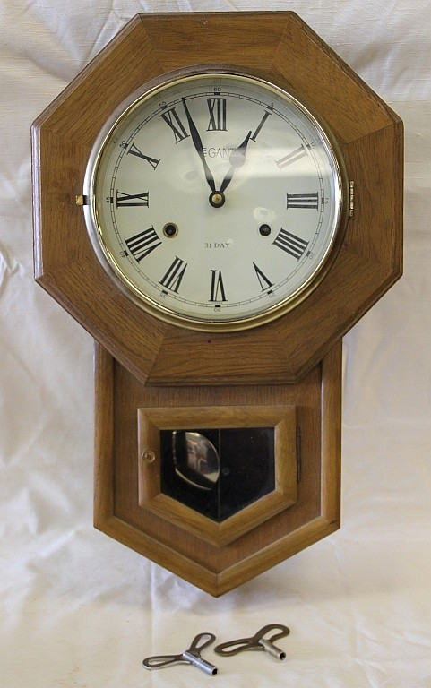 Legant 31 Day Pendulum Wall Clock With Keys