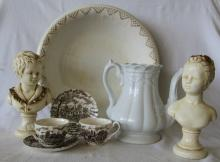 Antique English China & Ironstone + Busts