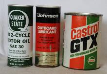 3 pcs. Vintage Oil & Lube Canisters - Various